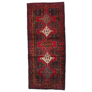 """Kurdish Senneh Lamb's Wool Rug - 4' X 9'6"""""""