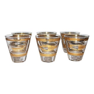 Fred Press Gilded Double Shot Glasses - Set of 6