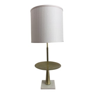 Modern Brass & Marble Table Lamp