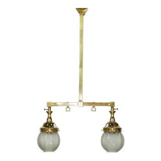 Two Light Mission Style Gas Chandelier