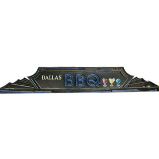 Art Deco Dallas BBQ Neon Light Sign