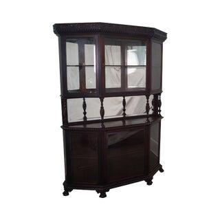 Victorian 19th Century Aesthetic Mahogany Curio China Cabinet