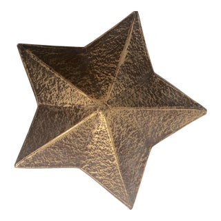 Vintage Painted Paper Gold Star Box