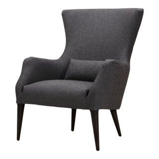 Spectra Home Mid-Century Grey Peg Leg Salon Chair