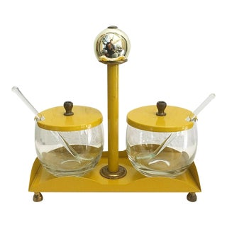 Retro Mustard Yellow Condiment Caddy