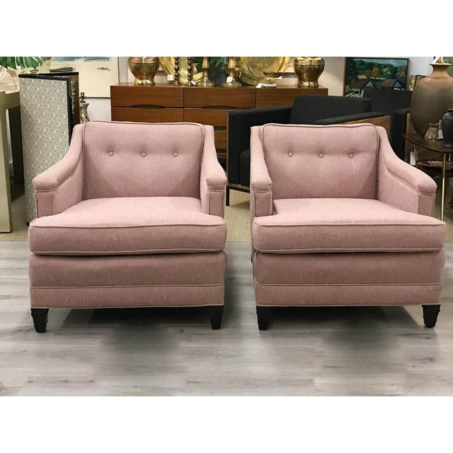 Mid-Century Transitional Club Chairs - A Pair - Image 2 of 8