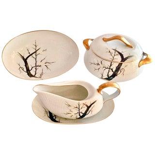 "Japanese Porcelain ""White Plum"" Cofee Service - Set of 5"