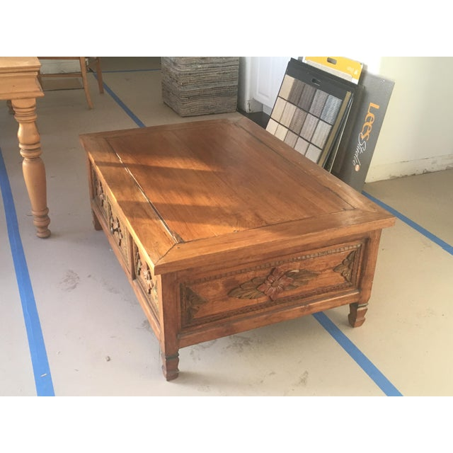 Hand Carved Coffee Table - Image 2 of 6