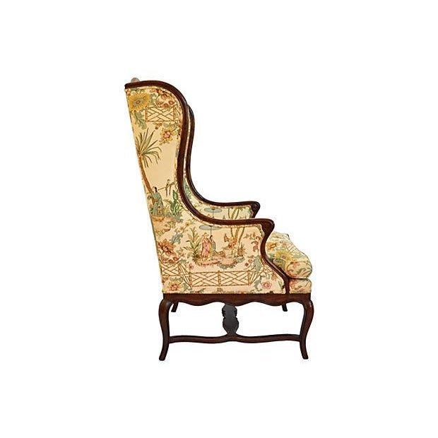 Henredon Chinese Chippendale Wingback Chair - Image 3 of 6