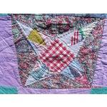 Image of Vintage Hand Stitched Summer Star Quilt
