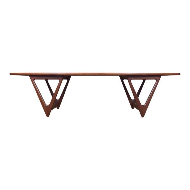 Mid-Century Danish Modern Teak Coffee Table by Kurt Ostervig for Jason Mobler - Image 1 of 11