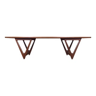 Mid-Century Danish Modern Teak Coffee Table by Kurt Ostervig for Jason Mobler