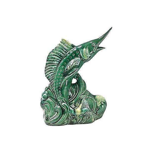 Image of Mid-Century Modern Ceramic Marlin Figurine