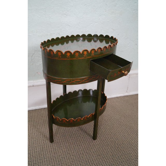 Maitland Smith Metal Toile Painted 1 Drawer Stand - Image 7 of 10
