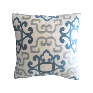 Blue & White Greek Pillow