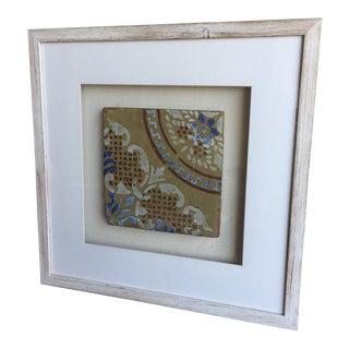Antique Italian Framed Tile