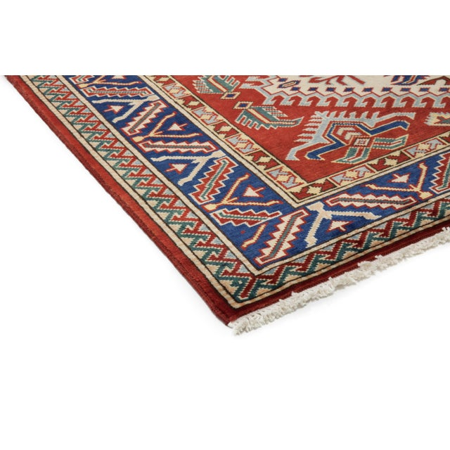 """New Traditional Hand Knotted Area Rug - 4'4"""" x 6' - Image 2 of 3"""