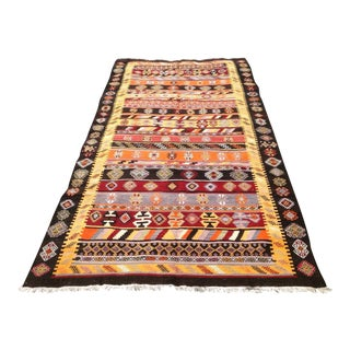Vintage Turkish Kilim Rug - 5′9″ × 10′8″
