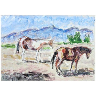 """Pair of Horses"" Painting by Roberta Owen"