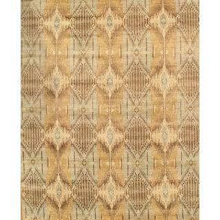 Ikat Design Wool Rug - 6' x 9'