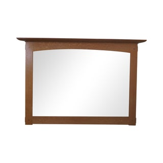 Stickley Mission Oak Natural Finish Wall Mirror