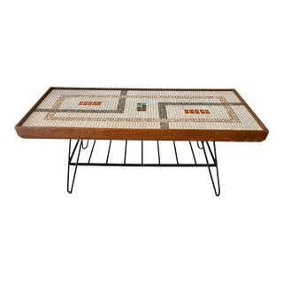 Mid Century 50's Mosaic Tile Coffee Table