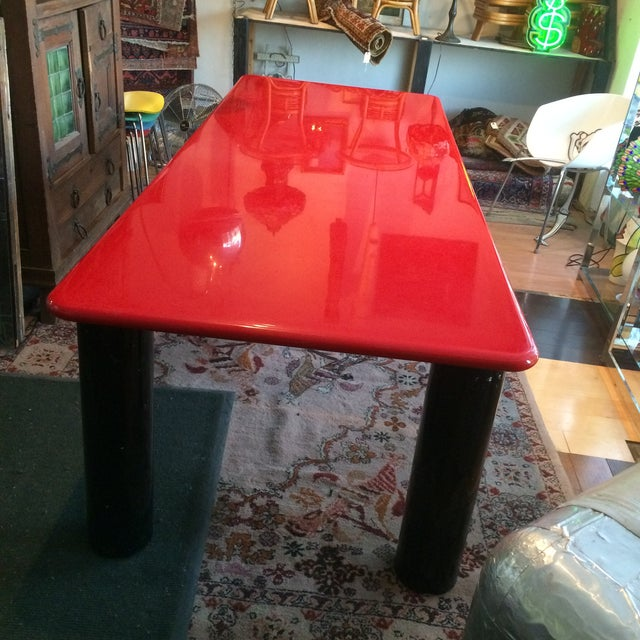 Vintage Italian Red Lacquer Table - Image 4 of 9