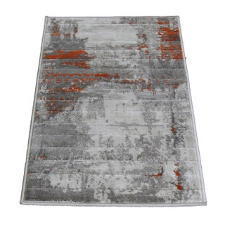 Orange Abstract Rug - 1′8″ × 2′6″