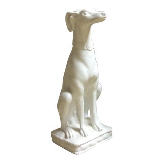 White Whippet Statue