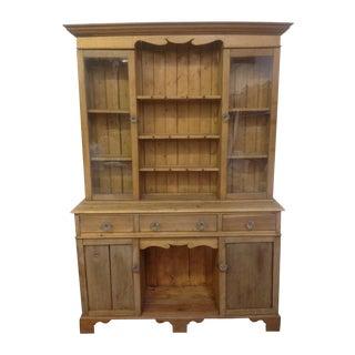Antique French Primitive Pine Cabinet