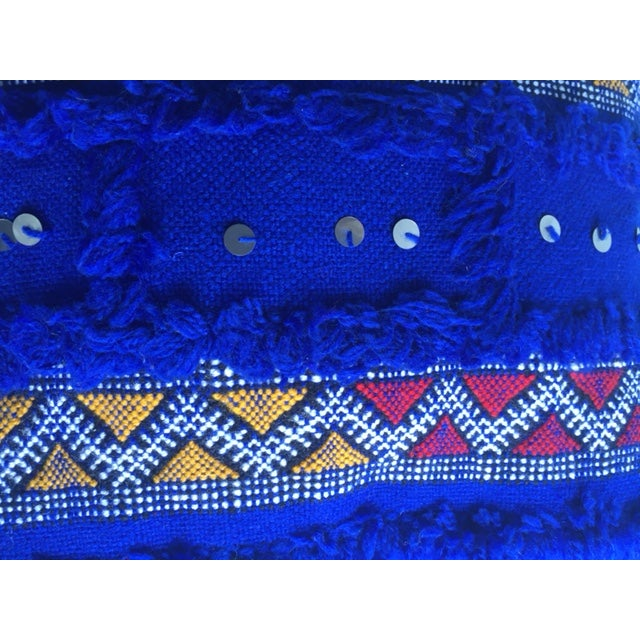 Blue Moroccan Berber Rug Pillow