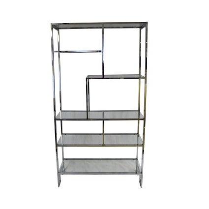 mid century modern milo baughman etagere shelf chairish. Black Bedroom Furniture Sets. Home Design Ideas