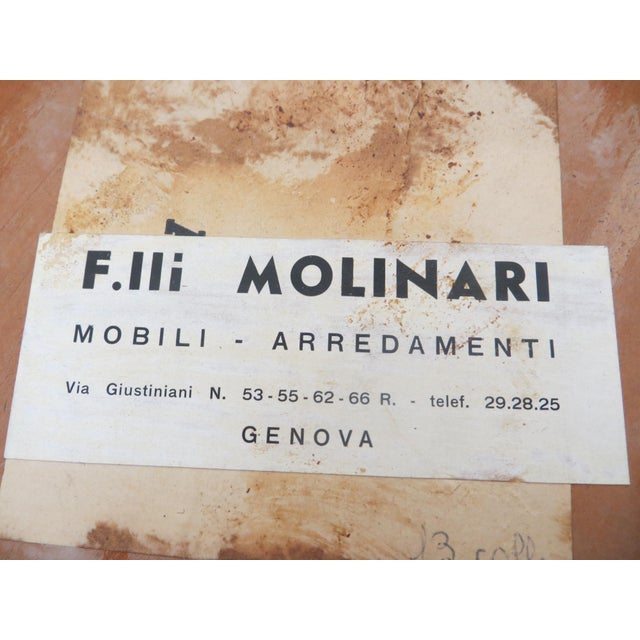 Molinari vintage italian wooden table chairish for Arredamenti molinari genova