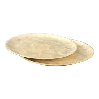 Capiz Shell Plates - A Pair