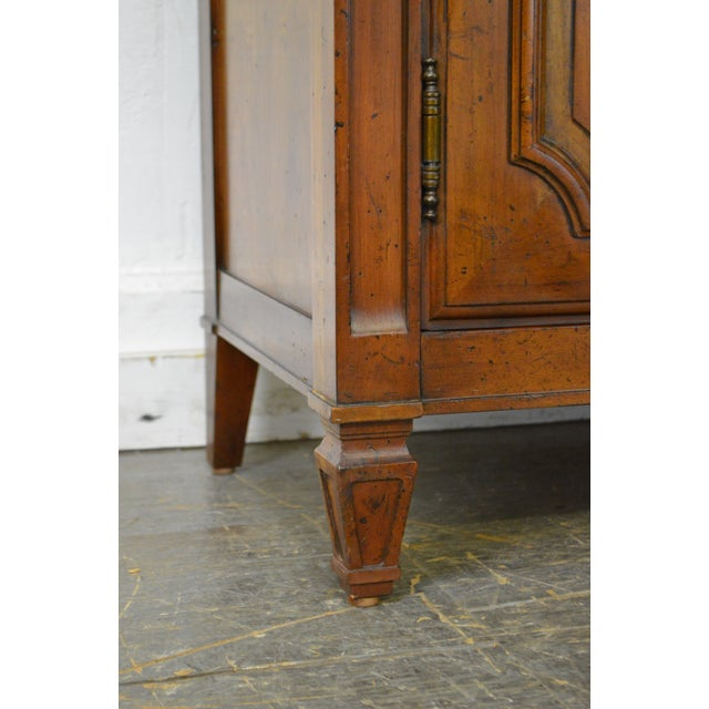 Baker Milling Road French Louis XV Style Fruit Wood Tall Armoire Cabinet - Image 8 of 11