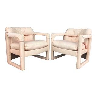 Vintage Drexel Milo Baughman Style Chairs- A Pair