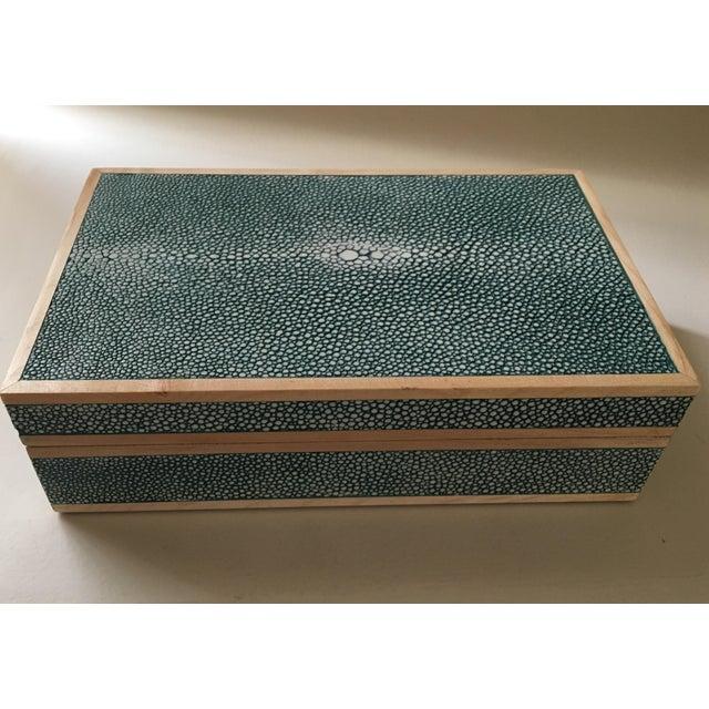 Teal Shagreen Treasure Box - Image 5 of 6