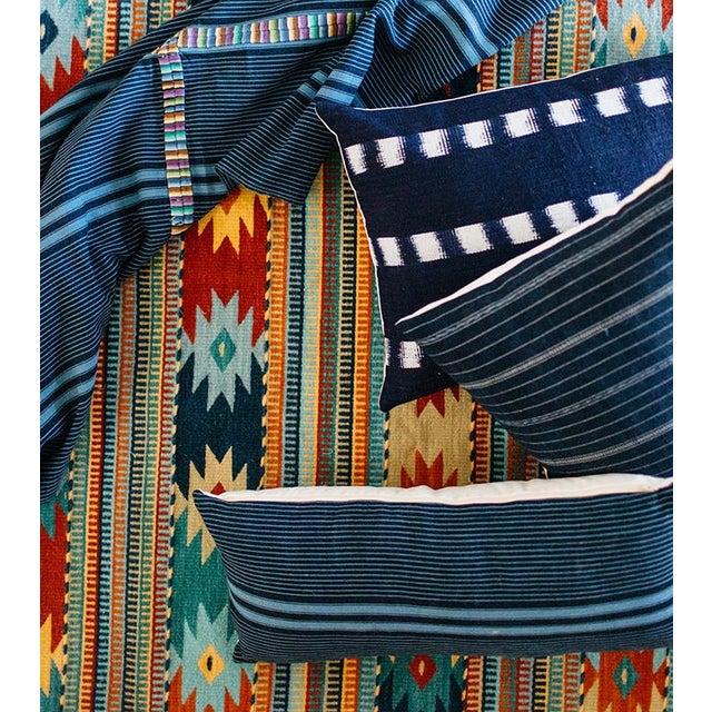 Vintage Guatemalan Indigo Pillow - Image 6 of 7