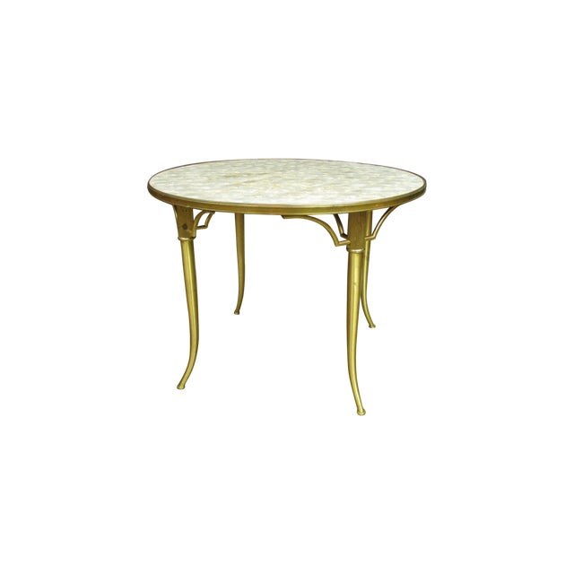 Vintage Billy Haines Capiz Shell Side Table - Image 1 of 5