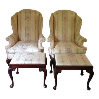 Hickory Chair James River Collection Chairs & Ottomans - A Pair