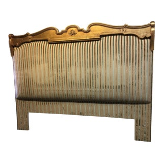 Custom Upholstered Vintage Headboard, Eastern King