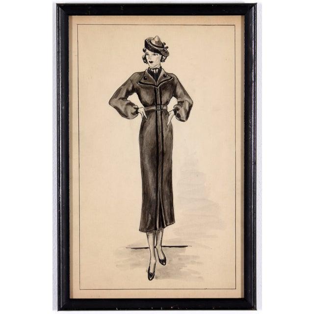 Winter Fashion Sketch - Image 2 of 5