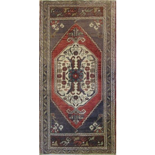 Vintage Turkish Rug - 1′9″ × 3′7″