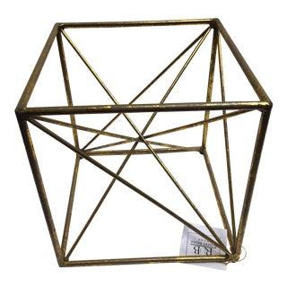 Gold Decorative Architectural Cube