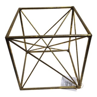 Gold Decorative Architectural Cube