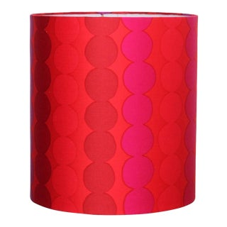 Marimekko Red Dot Drum Lamp Shade