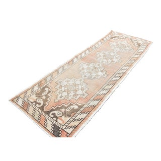 Antiqued Anatolian Handwoven Runner - 3′1″ × 9′