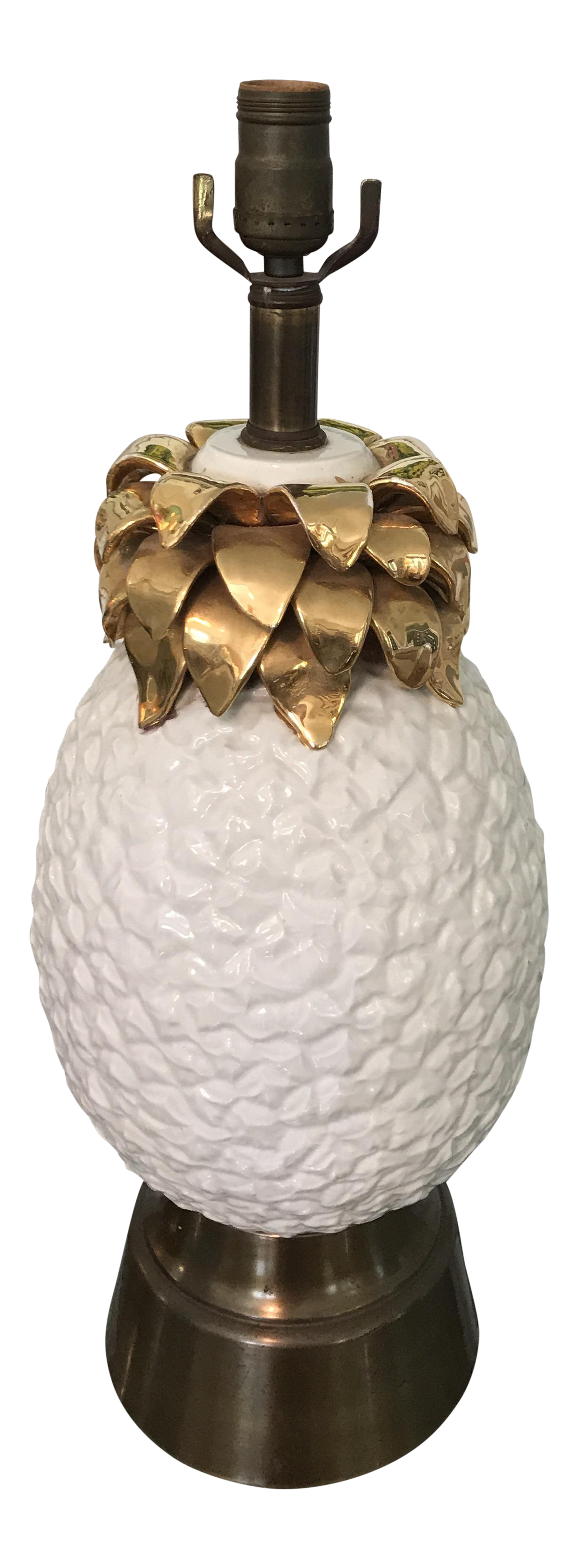 Vintage Gold Pineapple Table Lamp