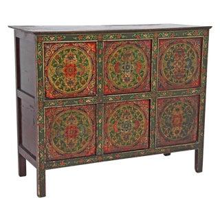 Vintage Tibetan Painted Cabinet