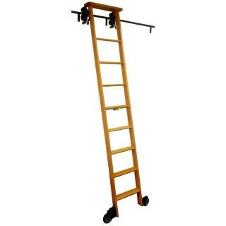 Antique Cotterman Co. Oak Library Ladder